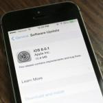 【追記:8に戻す方法】iOS 8修正版「8.0.1」が公開、でもアップデートしてはいけません